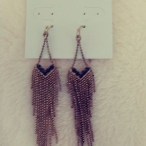 NWT WHBM antique gold chandelier Earrings
